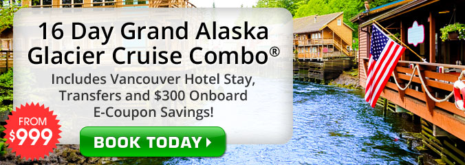 16 Day Grand Alaska Glacier Cruise Combo on NCL Sun!
