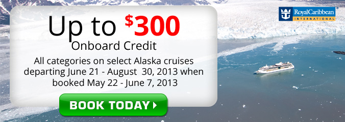 $300 in Onboard Credit on Royal Caribbean