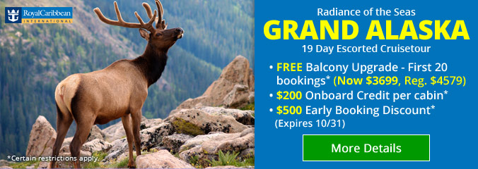 19 Day Grand Alaska Escorted Cruisetour!