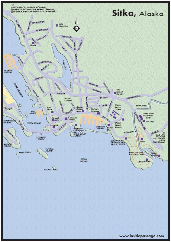 Map of Sitka Alaska